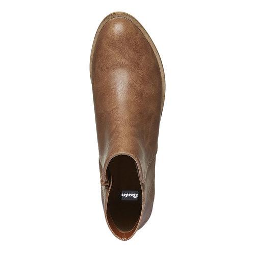 Stivaletti alla caviglia con tacco basso bata, marrone, 591-3578 - 19