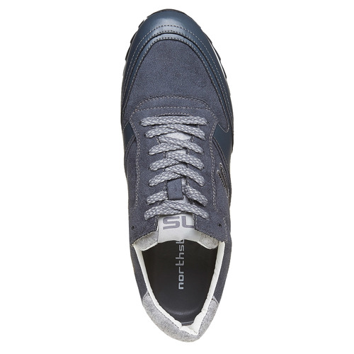 Sneakers da uomo con suola appariscente north-star, grigio, 849-2500 - 19