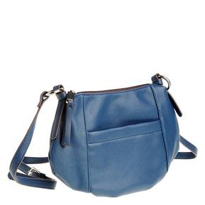 Borsetta Crossbody di colore blu bata, viola, 961-9757 - 13