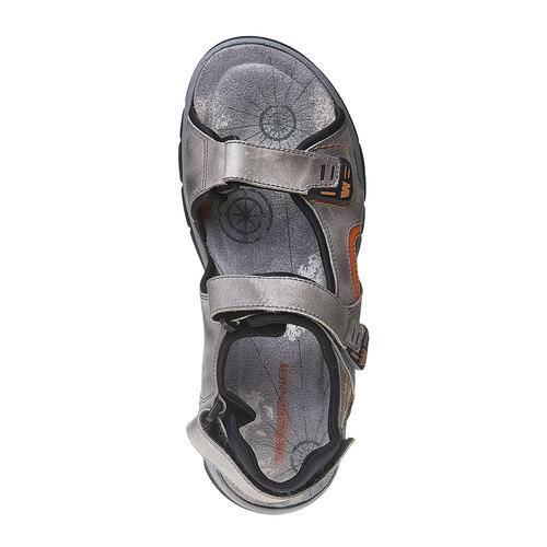 Sandali da uomo in pelle weinbrenner, grigio, 864-2218 - 19