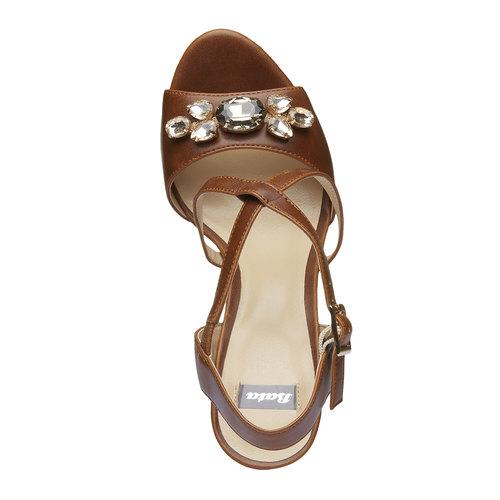 Sandali da donna con plateau bata, marrone, 761-4545 - 19