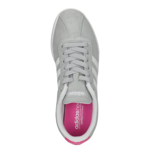 Sneakers da donna grigie in pelle scamosciata adidas, grigio, 503-2201 - 19