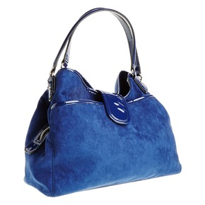 Borsetta da donna di colore blu bata, viola, 969-9280 - 13
