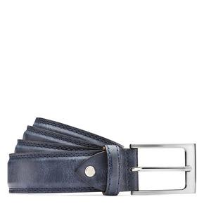 Cintura da uomo in pelle bata, blu, 954-9828 - 13