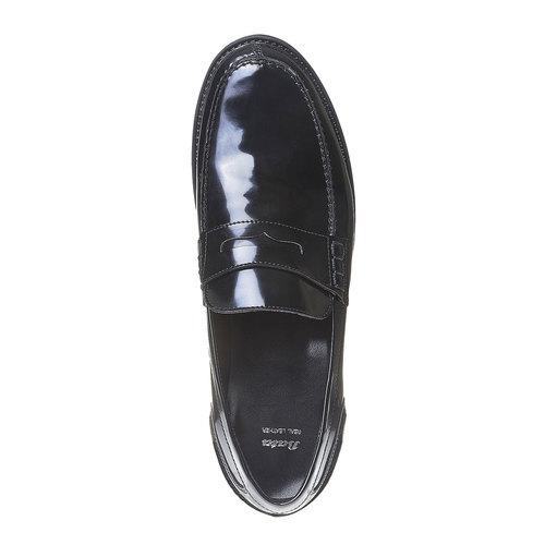Scarpe da uomo in stile Penny Loafers bata, nero, 811-6150 - 19