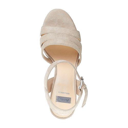 Sandali da donna con strisce bata, beige, 769-4484 - 19