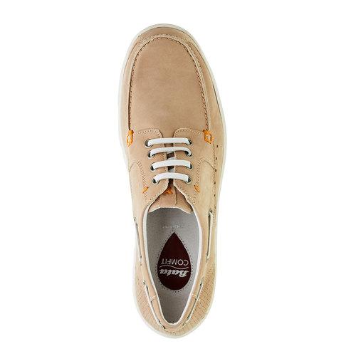 Scarpe basse informali di pelle bata-comfit, beige, 856-8177 - 19