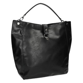 Borsetta nera in stile Hobo bata, nero, 961-6808 - 13