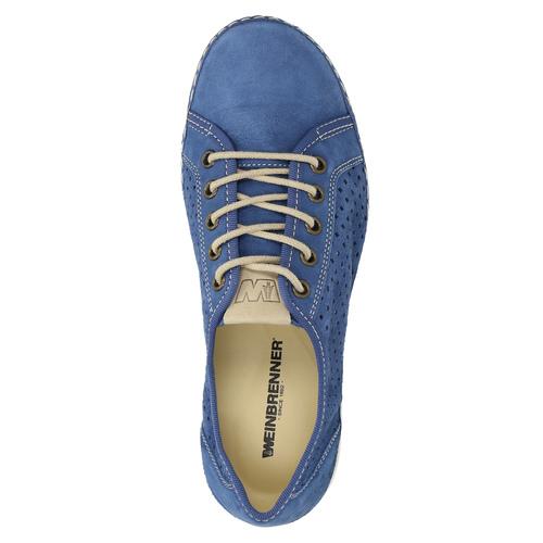 Sneakers di pelle weinbrenner, blu, 546-9238 - 19