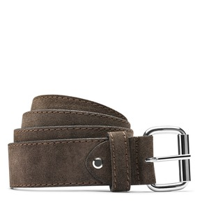 Cintura in pelle bata, beige, 953-8106 - 13
