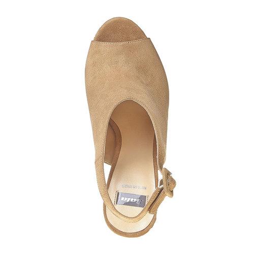 Sandali con lati chiusi bata, beige, 769-8525 - 19