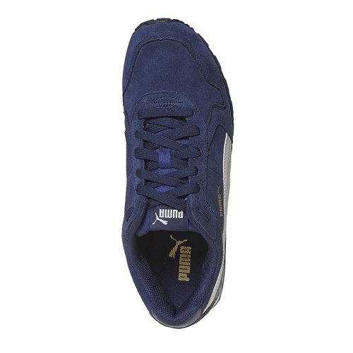 Sneakers da uomo in pelle puma, blu, 803-9311 - 19
