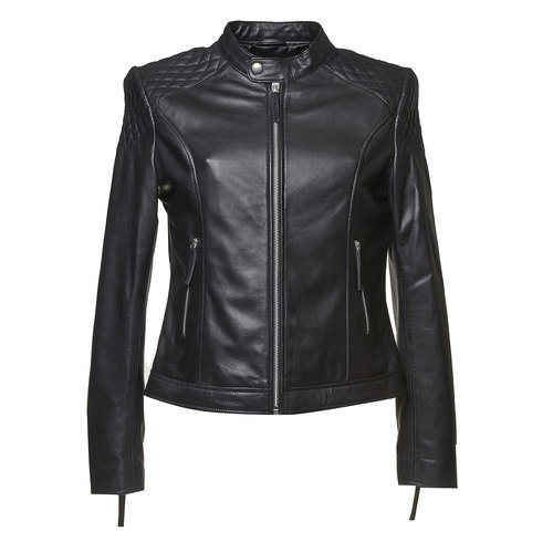 Giacca da donna in pelle bata, nero, 974-6151 - 13