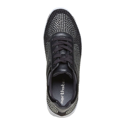 Sneakers da donna con strass north-star, nero, 549-6261 - 19
