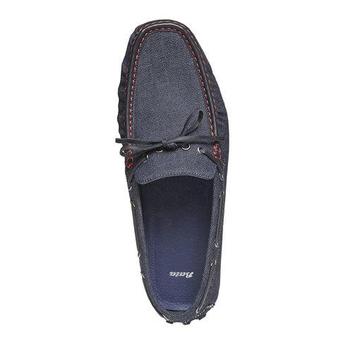 Mocassini da uomo bata, blu, 859-9197 - 19