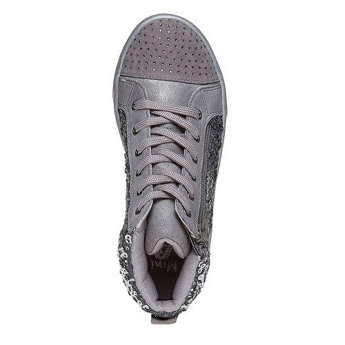 Sneakers da bambina con glitter mini-b, grigio, 329-2216 - 19