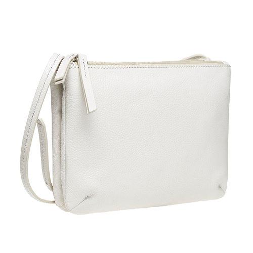 borsa in pelle da donna bata, bianco, 964-8174 - 13