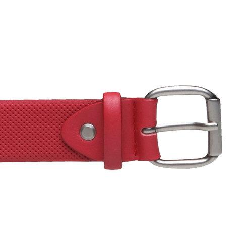 Cintura di pelle con perforazioni bata, rosso, 954-5154 - 26