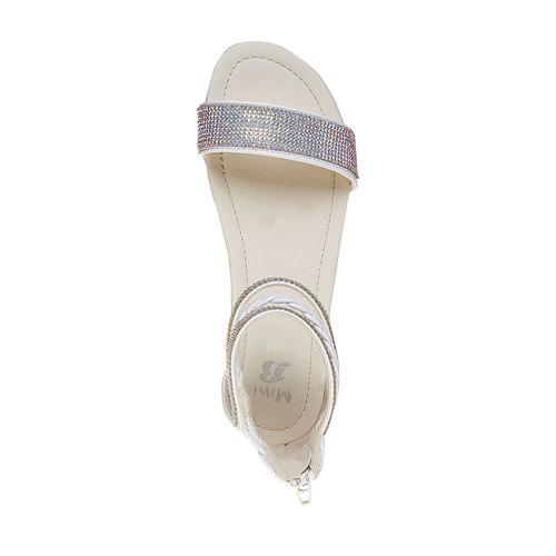 Sandali da ragazza con strass mini-b, bianco, 361-1178 - 19