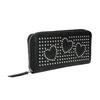 Portafoglio da donna con applicazioni in metallo bata, nero, 941-6134 - 13