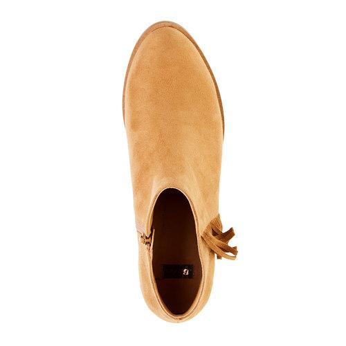 Stivaletti alla caviglia con frange bata, marrone, 599-3102 - 19