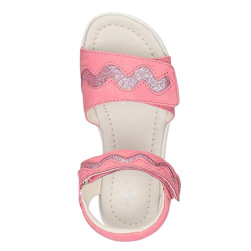 Sandali rosa con chiusura a velcro mini-b, rosa, 261-5159 - 19