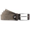 Cintura da uomo in pelle con perforazioni bata, beige, 953-8325 - 13
