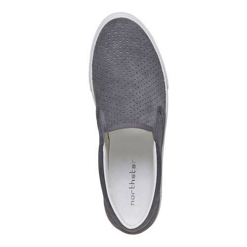 Slip-on con perforazioni north-star, grigio, 833-2118 - 19
