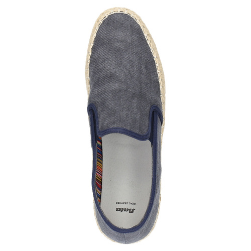 Slip-on da uomo bata, blu, 839-9116 - 19
