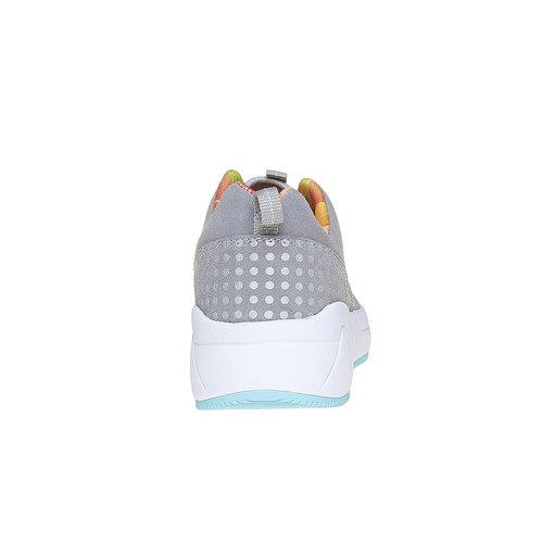 Sneakers da donna con suola ampia lotto, grigio, 509-2157 - 17