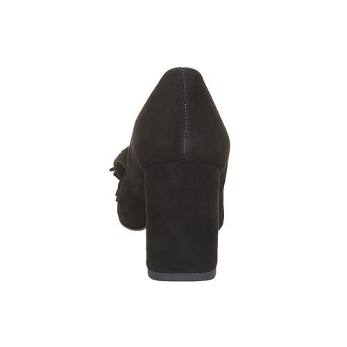 Décolleté da donna con tacco stabile bata, nero, 723-6381 - 17