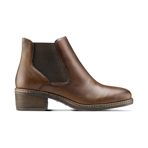 Scarpe in pelle alla caviglia con lati elastici bata, marrone, 694-3382 - 26