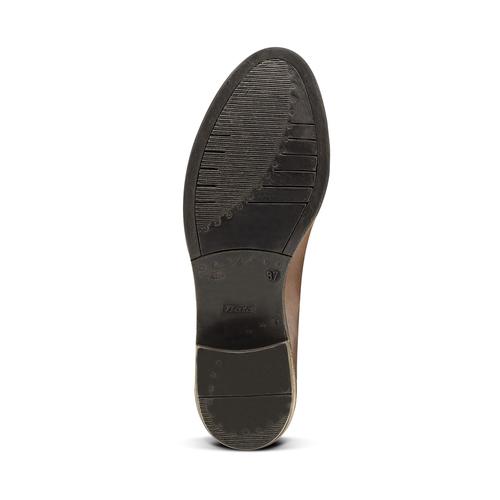 Scarpe in pelle alla caviglia con lati elastici bata, marrone, 694-3382 - 17