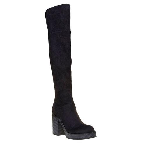 Stivali da donna con tacco stabile bata, nero, 799-6295 - 13
