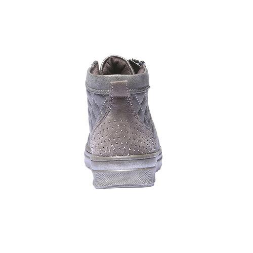 Sneakers lucide con strass mini-b, marrone, 321-3165 - 17