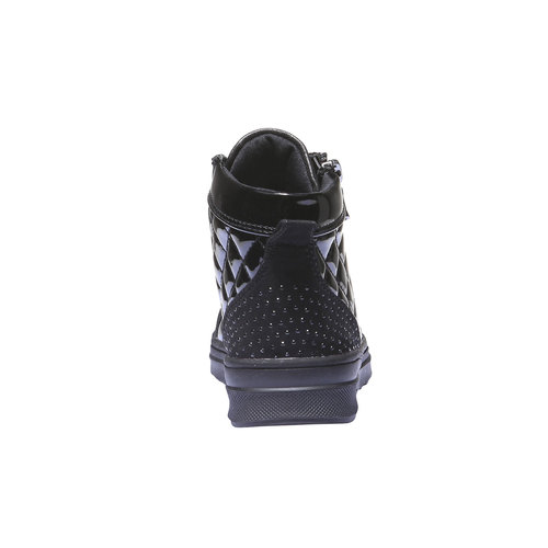 Sneakers lucide con strass mini-b, nero, 321-6165 - 17