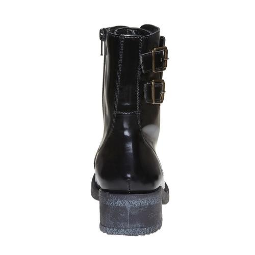 Scarpe da donna alla caviglia con lacci bata, nero, 591-6198 - 17