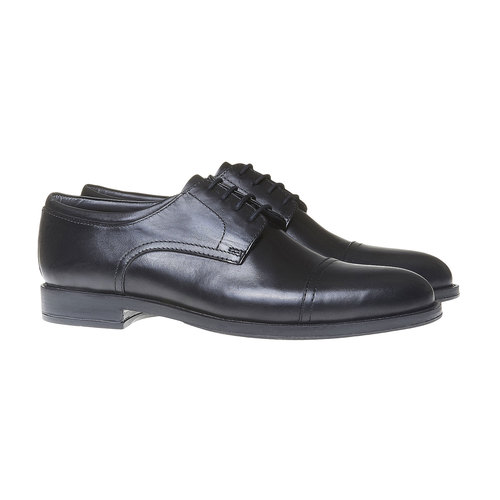 Scarpe basse Derby di pelle da uomo, nero, 824-6713 - 26