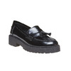 Tassel Loafer in pelle con suola appariscente bata, nero, 514-6199 - 13