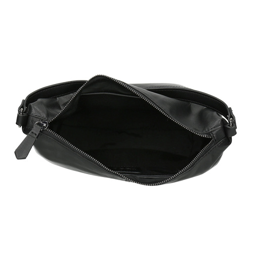 Borsetta di pelle con tracolla rimovibile bata, nero, 964-6233 - 15