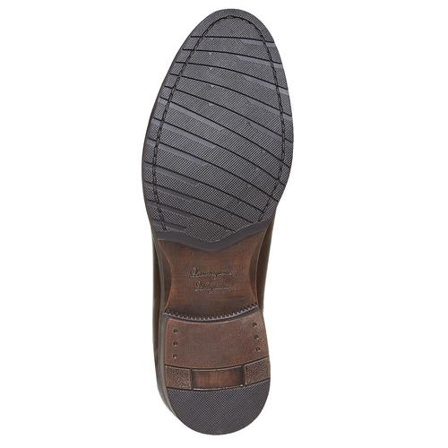 Scarpe basse casual di pelle bata, marrone, 824-4617 - 26