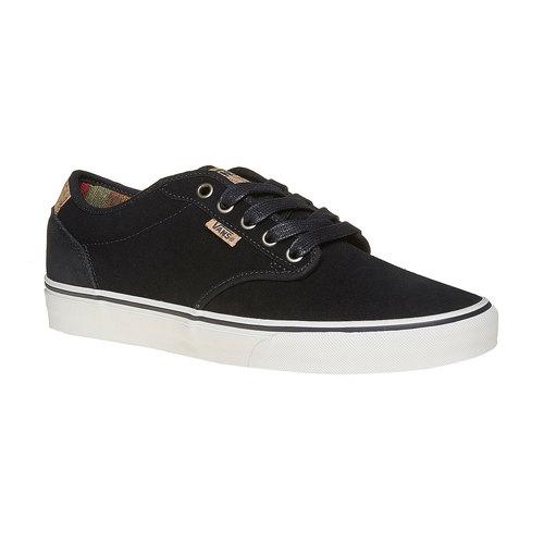 Sneakers nere da uomo in pelle vans, nero, 803-6304 - 13