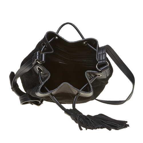 Borsetta in pelle stile Bucket Bag bata, nero, 963-6131 - 15