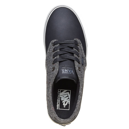 Sneakers casual da uomo vans, nero, 801-6504 - 19
