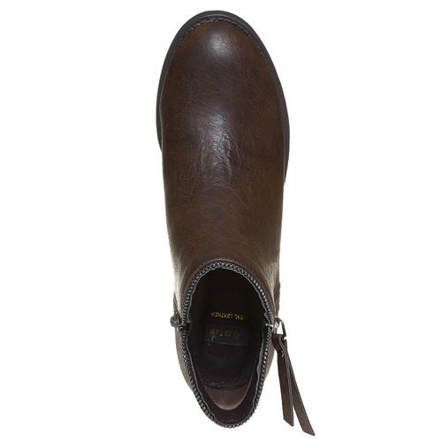 Scarpe da donna alla caviglia bata, marrone, 691-4223 - 19