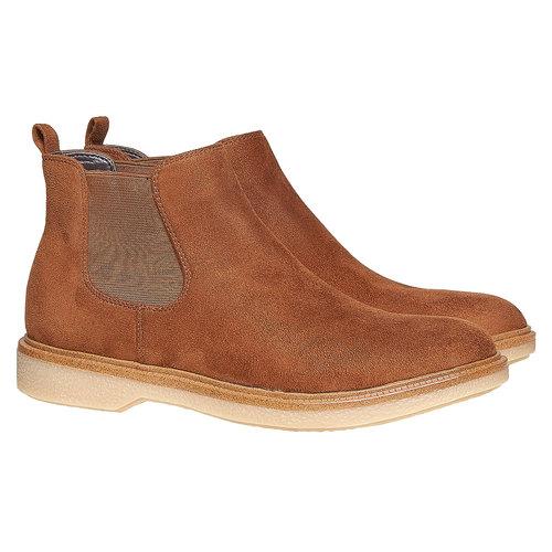Scarpe da donna alla caviglia in stile Chelsea bata, marrone, 599-3556 - 26