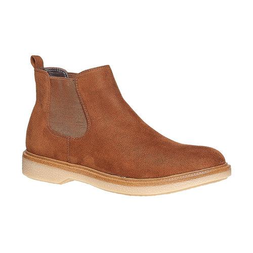 Scarpe da donna alla caviglia in stile Chelsea bata, marrone, 599-3556 - 13