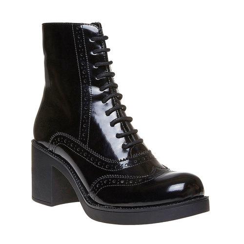 Scarpe da donna alla caviglia in stile Oxford bata, nero, 691-6148 - 13
