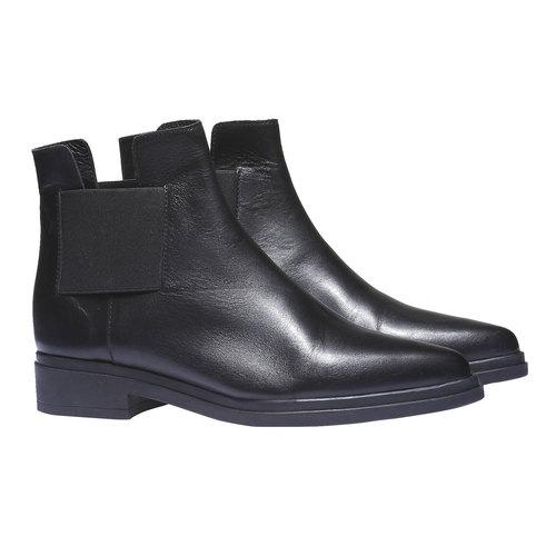 Scarpe di pelle in stile Chelsea bata, nero, 594-6178 - 26