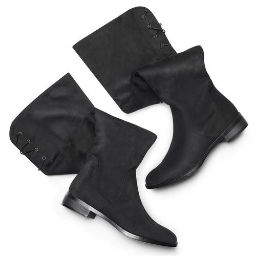 Stivali da donna sopra il ginocchio bata, nero, 599-6515 - 19